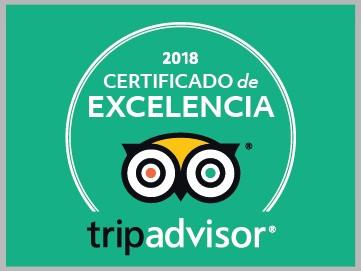 2018 Certificado de Excelencia TripAdvisor