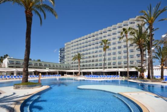 Lagoon pool at Hotel Samos, Magaluf